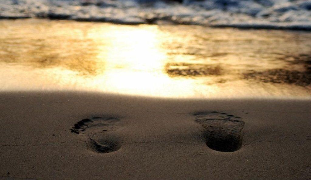Eco footprint happy holiday